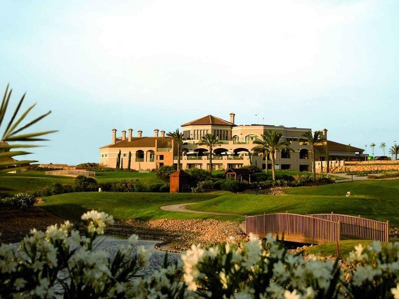 Clubhouse at Hacienda del Alamo Golf Course Murcia Spain