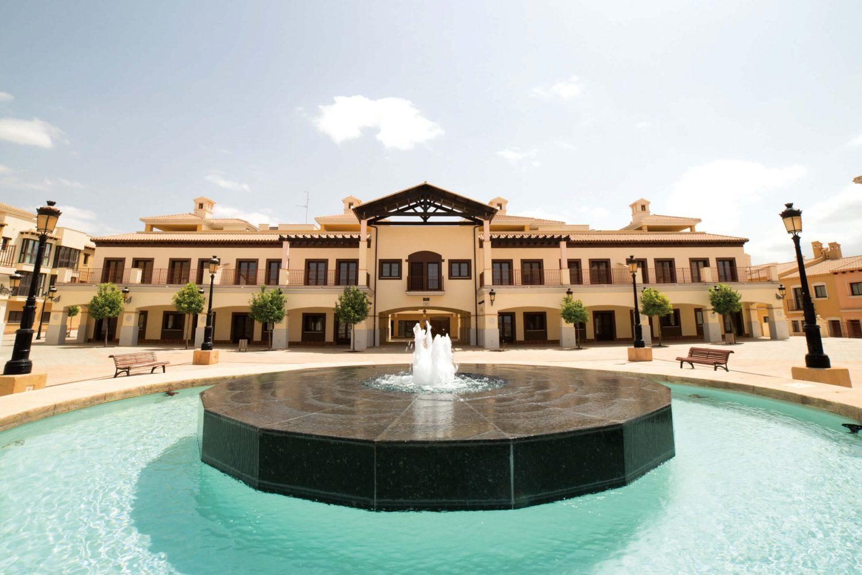 Fountain at Hacienda del Alamo Golf Club Spain